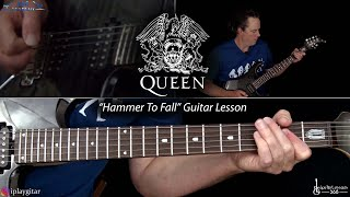 Hammer To Fall Guitar Lesson Queen