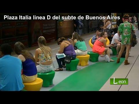 La estación Plaza Italia del subte en Buenos Aires. Plaza Italia (Buenos Aires)