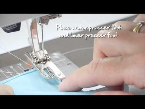 how to use the BERNINA hemmer feet no 6169