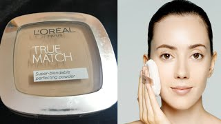 L 39 oreal true match compact powder review best face powder for oily skin