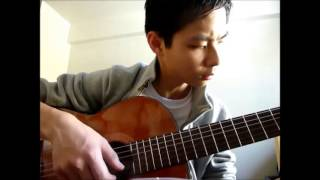 """HAPPY NEW YEAR"" (ABBA) on classical guitar - Tet 2013 Year of the Snake"