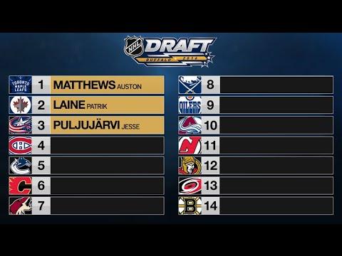 NHL 2016 MOCK DRAFT