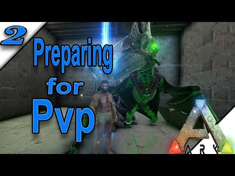 STARTER PvP BASE/LEARNING the ROPES - ARK: Survival Evolved (High Rate Primal Fear Server) Ep. 2