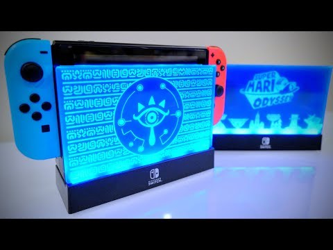 SPECIAL Nintendo Switch LIGHT UP DOCK [Zelda Breath of the Wild & Super Mario Odyssey]