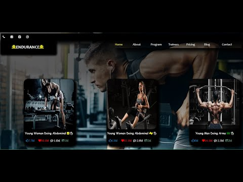 The First Incredible Website For Fitness Gym Using HTML & CSS
