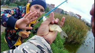 Рыбалка на карася СПБ с дочерью на рыбалке Долгое озеро СПБ