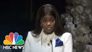 Nipsey Hussle's business partner and friend Karen Civil reads a heartfelt letter from former President Barack Obama honoring Hussle. » Subscribe to NBC ...