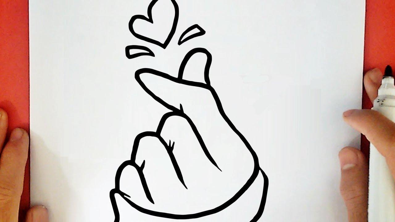 Como Dibujar Un Corazón Coreano Tumblr