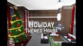 ROBLOX │Bloxburg - [SpeedBuild] Holiday Themed House