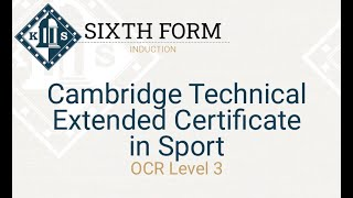 PE Cambridge Technical Induction