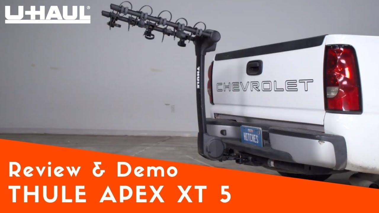 thule apex xt 5 bike rack review and demo
