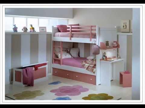 Literas juveniles e infantiles y camas tren para ni os for Dormitorios para 4 ninas