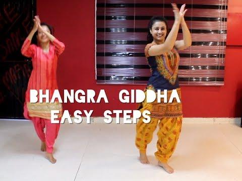 Nimrat Khaira - Bhangra Gidha | EASY STEPS | Teej Special | punjabi dance | basic steps