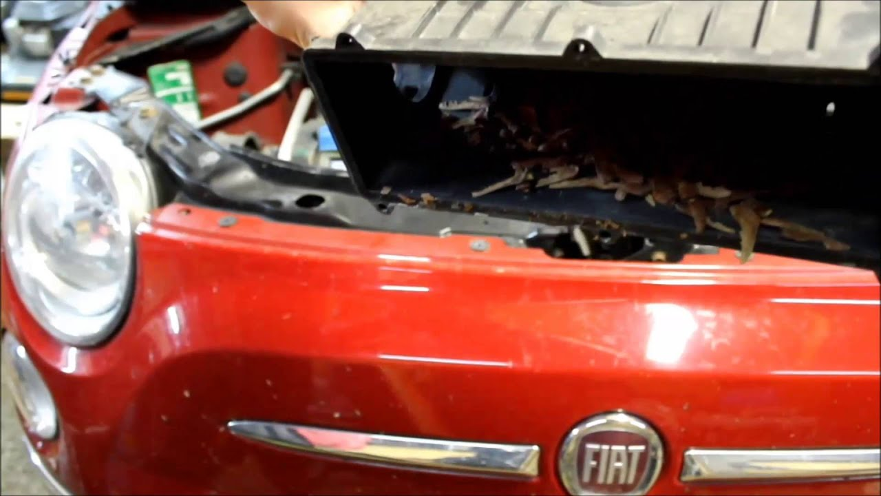 fiat 500 fix -- exchange the air filter - youtube