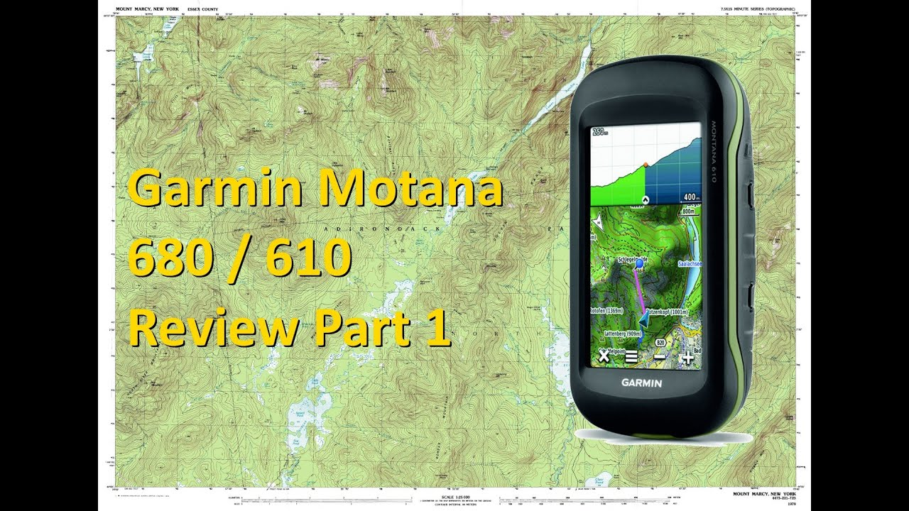 Garmin Montana 680 610 - Review - Part 1 - Technical Features