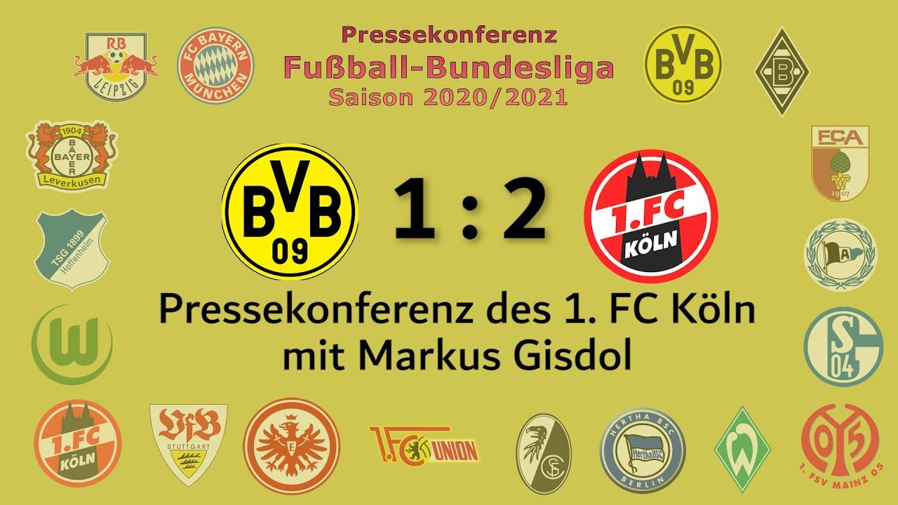 Borussia Dortmund - 1. FC Köln: Pk mit Markus Gisdol