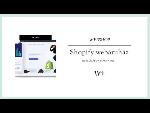 Shopify webshop beállítások magyarul thumbnail