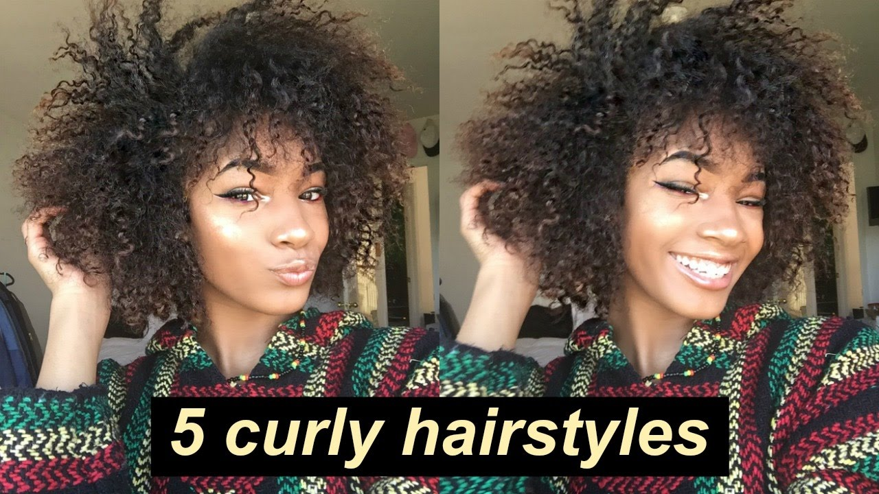 5 Lazy Hairstyles For Curly Hair Everyday Quick And Easy