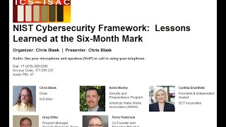 NIST Cybersecurity Framework:  Lessons Learned at the Six-Month Mark