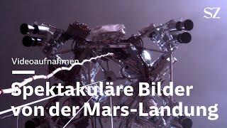 Spektakuläre Videoaufnahmen zeigen Landung auf dem Mars