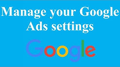 Manage your Google Ads settings