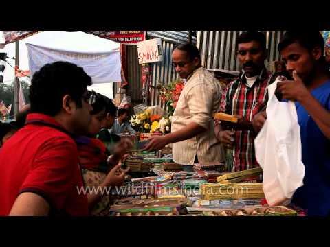 Symbol of festive celebrations: Fire crackers at INA market