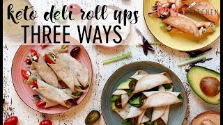Veggie Packed Keto Deli Roll Ups 3 Ways | Easy Low Carb High Protein Snack Ideas