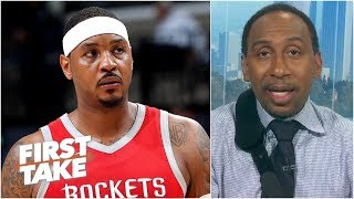 Too many scrubs in the NBA for Carmelo not to be on a team - Stephen A. | First Take