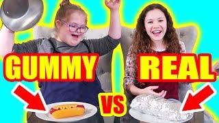 Gummy Food vs Real Food Challenge! (ft Sierra Haschak)
