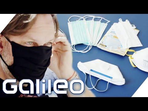 Welcher Mundschutz schützt am meisten? Galileo testet! | Galileo | ProSieben