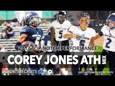 2 TD, INT, MULTIPLE PASS BREAKUPS: Corey Jones '19 ATH Highlights vs Calabasas (Sierra Canyon)