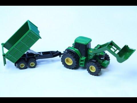 Раскраска трактор с прицепом для малышей