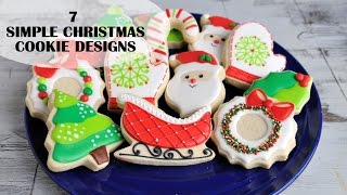 CHRISTMAS DECORATED COOKIES, SIMPLE DESIGNS FOR BEGINNERS, HANIELA'S