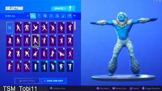 *NEW SKIN* YETI Dancing +100 FORTNITE Dances Which One Fits Better?