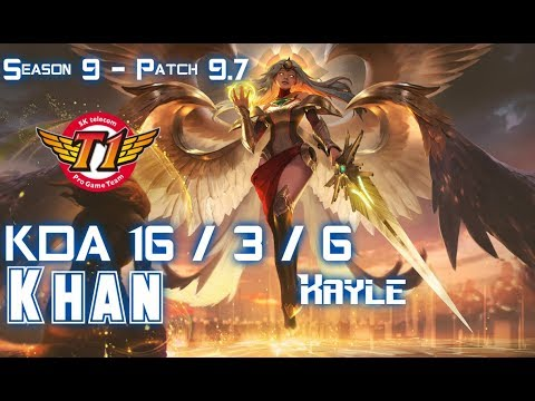 SKT T1 Khan KAYLE vs HECARIM Top - Patch 9.7 KR Ranked