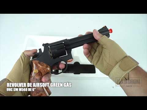 Smith Wesson 586 Revólver Airsoft Gás UHC S&W [LojaDaCarabina.com.br]