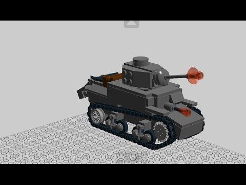 Custom Ww2 Lego Stuart M3 Instructions Youtube