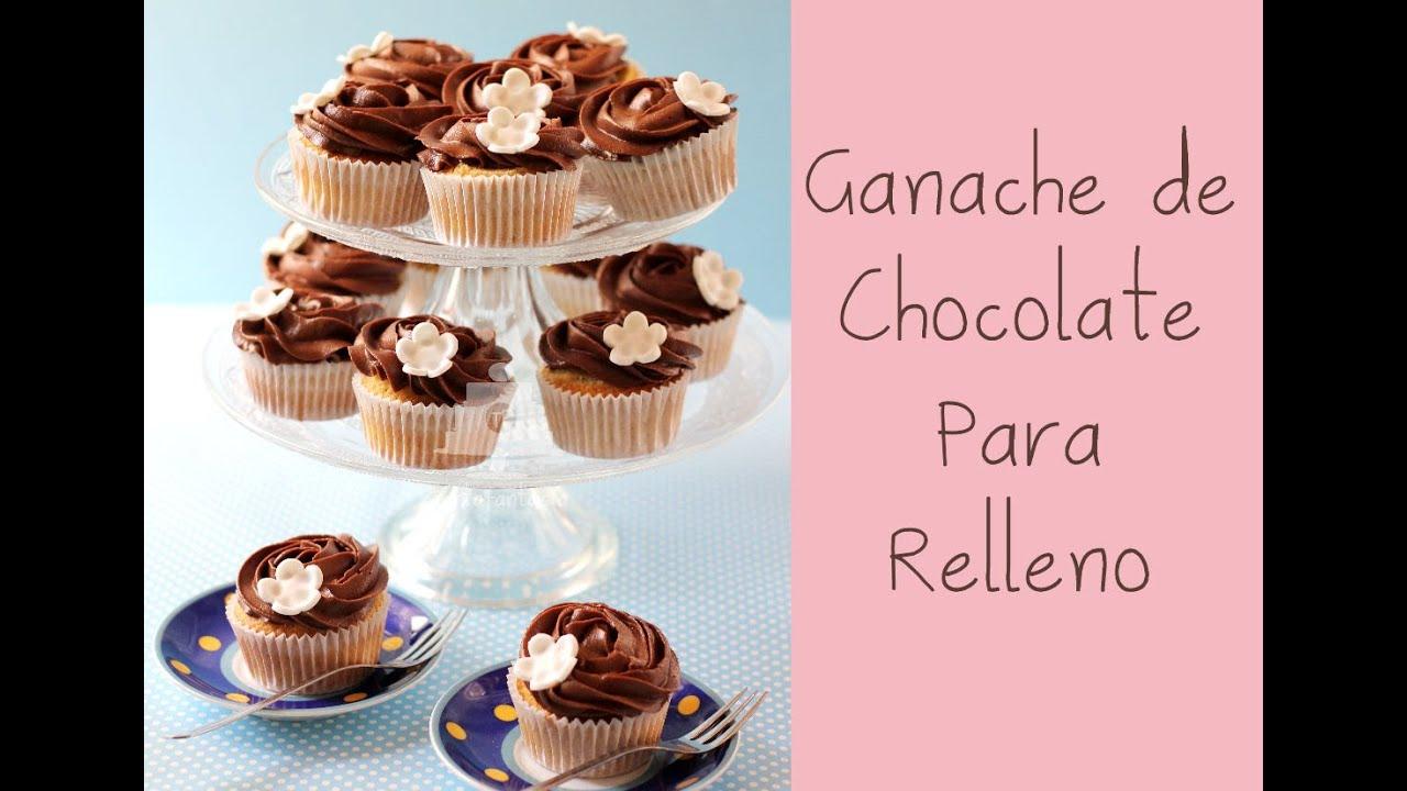 Ganache de chocolate para relleno de tartas y decoraci n for Decoracion en cupcakes