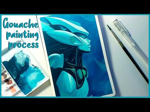 Program Nami   League of Legends   Gouache painting process   Fanart