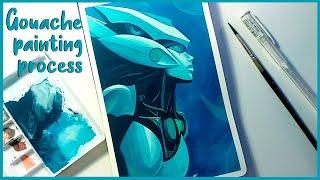 Program Nami | League of Legends | Gouache painting process | Fanart