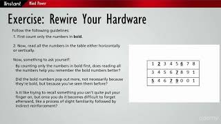 Instant Mind Power : Exercise: Rewire Your Hardware