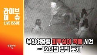 """[라이브 이슈] 부산여중생 피투성이 폭행 사건…""""소년범 정책 문제"""" / 연합뉴스TV (YonhapnewsTV)"""