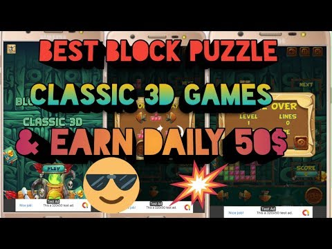 BEST BLOCK PUZZLE CLASSIC 3D GAMES MADE BY ANDROID STUDIO & EARN DAILY 50$  Ll ADVANCE EARNING Ll