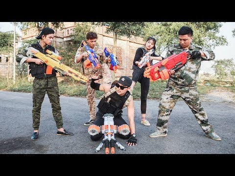 LTT Nerf War : Special task SEAL X attack Fight criminal group with