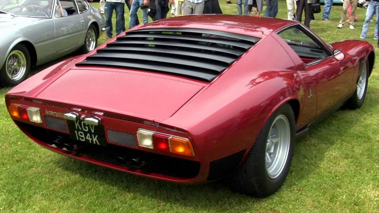 Lamborghini Miura Svj W Ansa Exhaust Sound Youtube