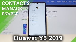 How to Add Photo to Contact to HUAWEI Y5 2019 - Personalize Contact Profile