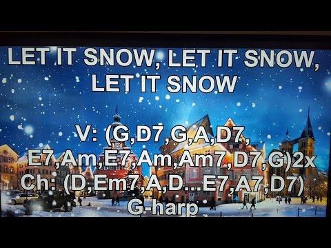 LET IT SNOW, LET IT SNOW, LET IT SNOW - Lyrics - Chords - NO AUDIO !!!