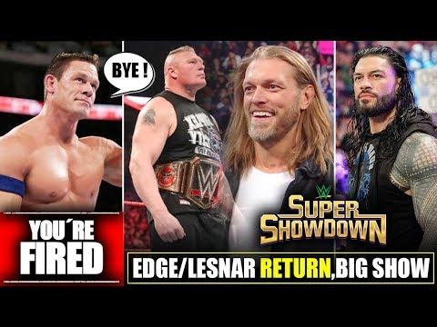 Edge & Lesnar 'RETURN DATE REVEAL🔥' John Cena To FIRED*, Roman Reigns, New WM36 Match, #WWESSD