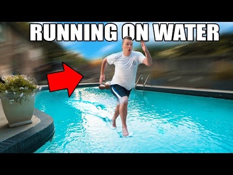 Thumbnail: RUNNING ON WATER CHALLENGE!! 🏃🏻💧