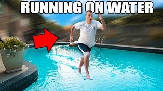 RUNNING ON WATER CHALLENGE!!